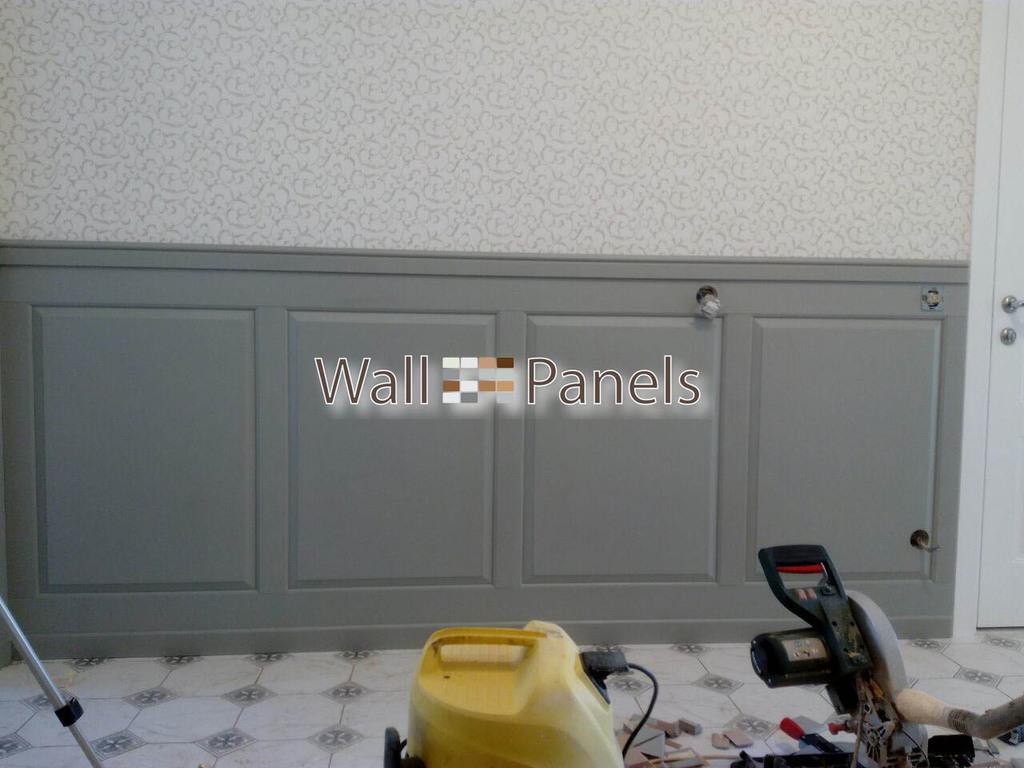 Отделка прихожей панелями под покраску в квартире на ул. Республиканская д. 20