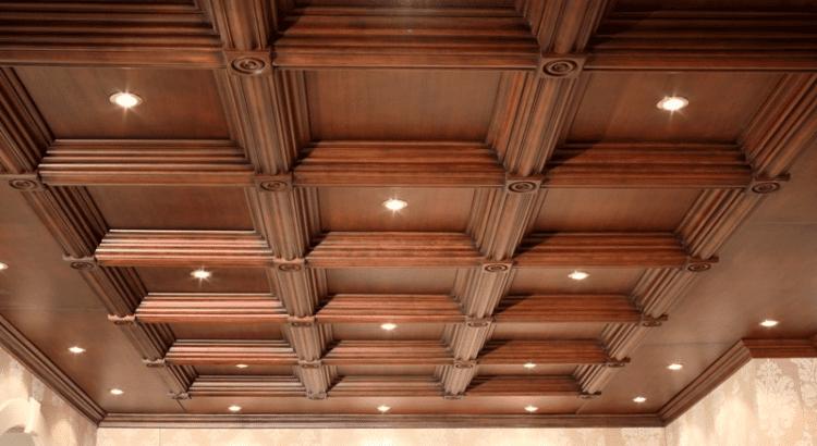 Кессонный потолок массив