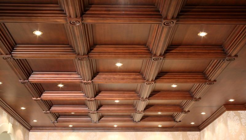 Кессонные потолки массив