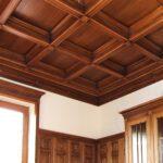 Кессонный потолок из массива дуба