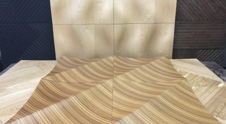 Вариант раскладки объемных панелей из шпона