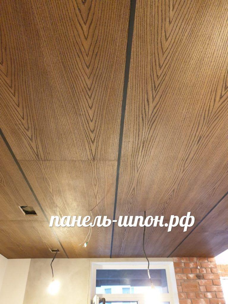 Шпонированный потолок