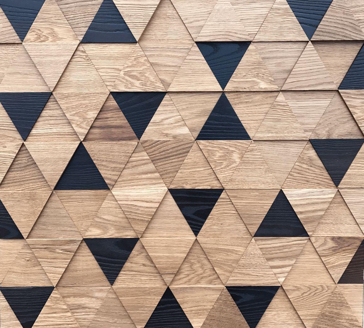 3Д панели треугольные со шпоном
